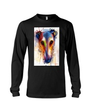 Greyhound Face Art Flow  Long Sleeve Tee thumbnail