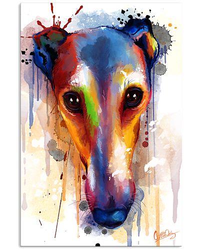 Greyhound Face Art Flow