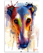 Greyhound Face Art Flow  11x17 Poster front