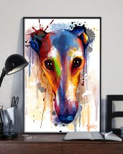 Greyhound Face Art Flow  11x17 Poster lifestyle-poster-2