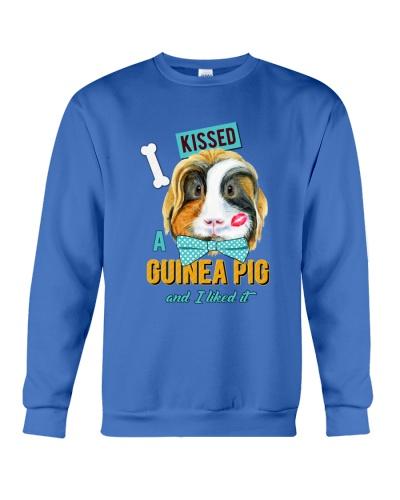 Guinea pig kissed