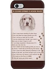 Cocker Spaniel Poster House Rules Phone Case thumbnail