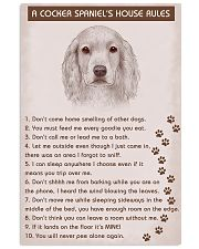 Cocker Spaniel Poster House Rules 11x17 Poster front