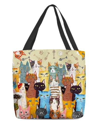 Cat Multi All Over Bag