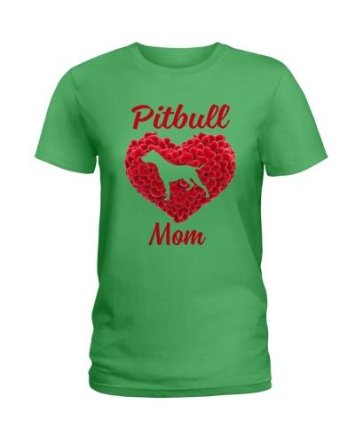 Pitbull mom heart