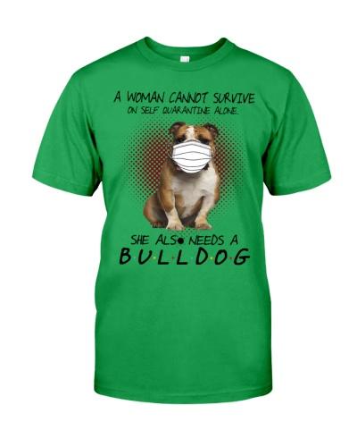 Bulldog A women also needs a dog