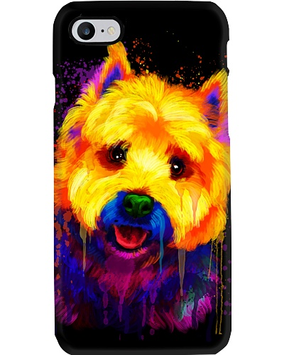 Westie Water Color Phone Case