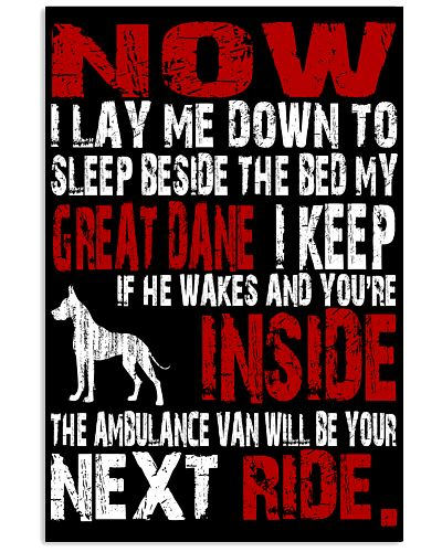 Great Dane I Lay Me Down To Sleep