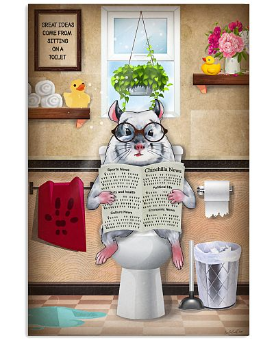 Chinchila Toilet Poster