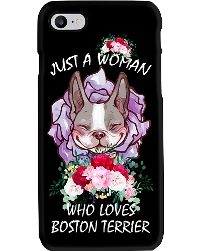 JUST A WOMAN WHO LOVES BOSTON TERRIER