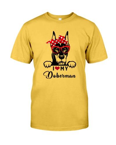 Doberman I love dog
