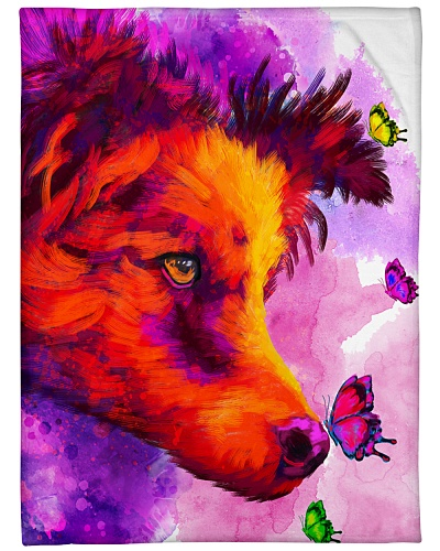 Border Collie Buterfly Water Color