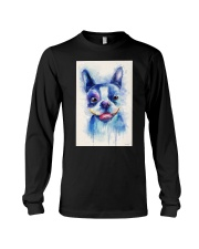 French bulldog Water Color Art Flow X10 Long Sleeve Tee thumbnail