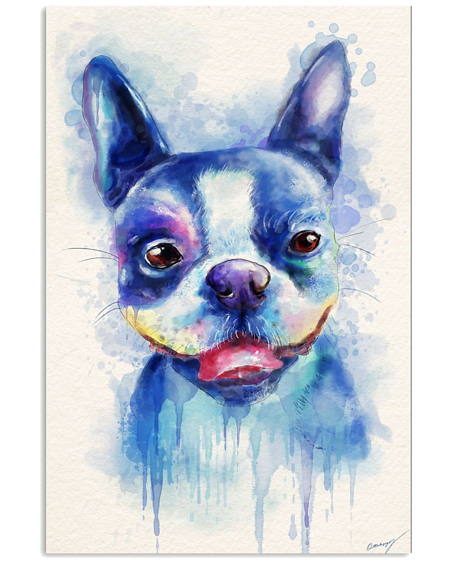 French bulldog Water Color Art Flow X10 24x36 Poster