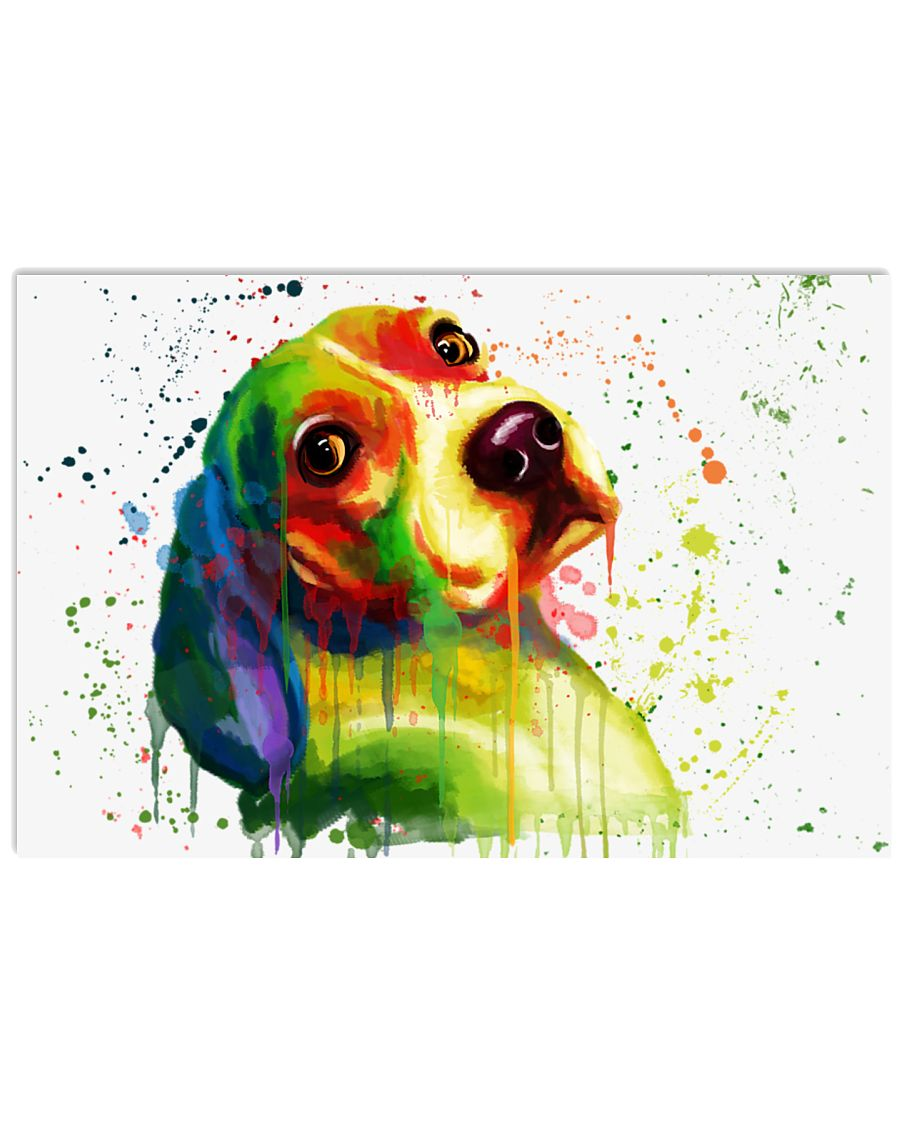 Beagle Water Color 17x11 Poster