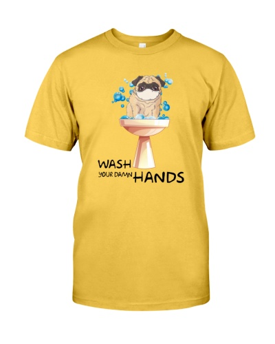 Pug wash your hands