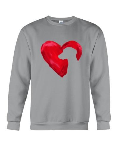 Weimaranner heart