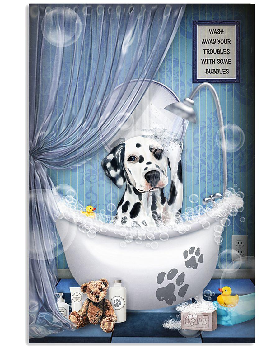 Dalmatian bathroom 16x24 Poster
