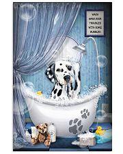 Dalmatian bathroom 16x24 Poster front