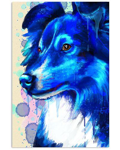 Sheltie blue watercolor