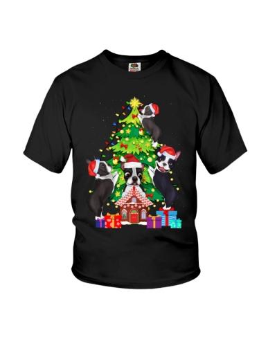 Boston Terrier  Christmas Tree