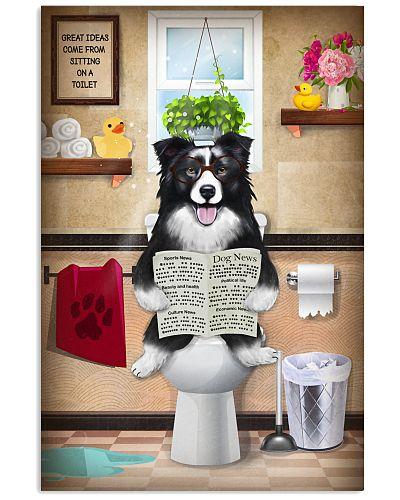 Border Collier Toilet Poster