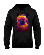 Pekingese Water Color Hooded Sweatshirt thumbnail
