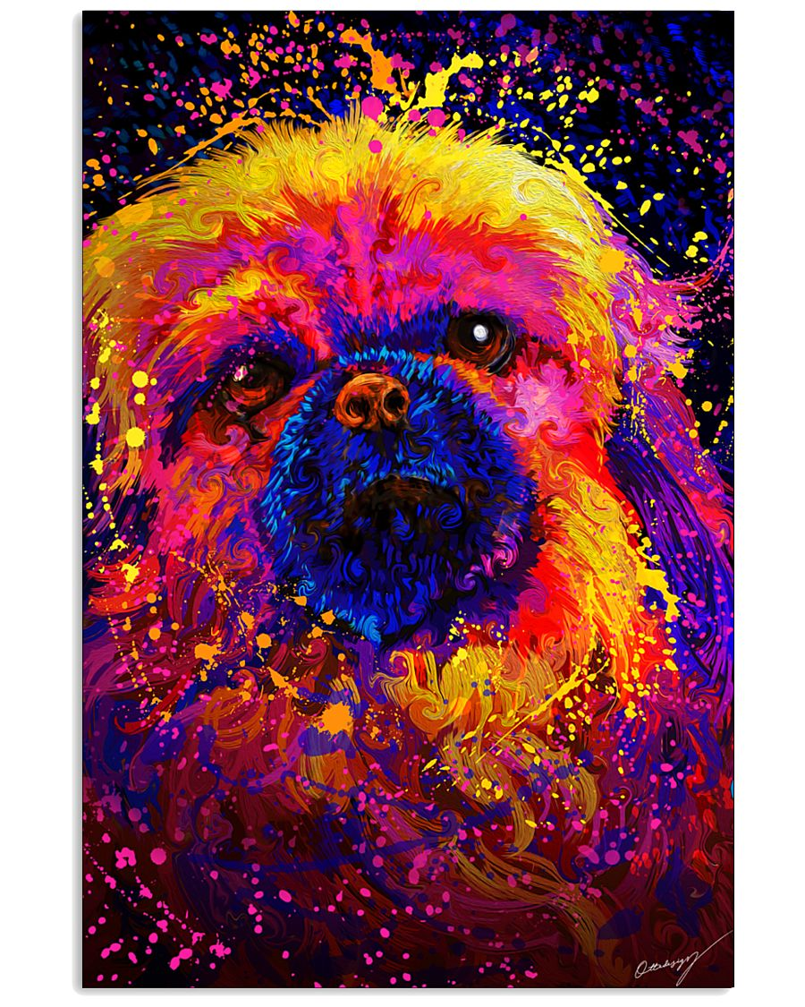 Pekingese Water Color 24x36 Poster