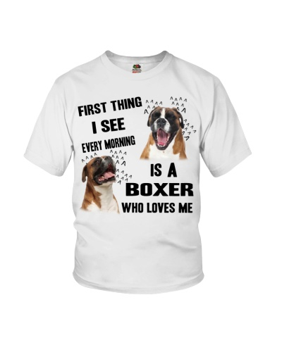 Boxer First thing I see every morning