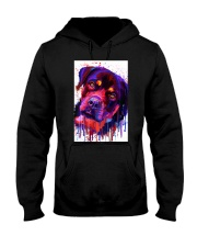 ROTTWEILER WATERCOLOR POSTER Hooded Sweatshirt thumbnail