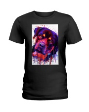 ROTTWEILER WATERCOLOR POSTER Ladies T-Shirt thumbnail