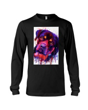 ROTTWEILER WATERCOLOR POSTER Long Sleeve Tee thumbnail