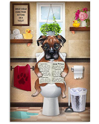 Boxer Toilet Poster