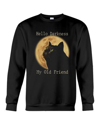 Cat Hello Darkness My Old Friend