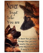German Shepherd Nerver Forget 11x17 Poster front