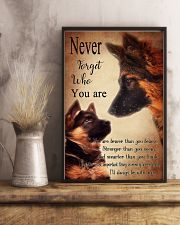 German Shepherd Nerver Forget 11x17 Poster lifestyle-poster-3