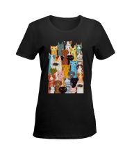 Cats  Phone Case Multi Ladies T-Shirt women-premium-crewneck-shirt-front