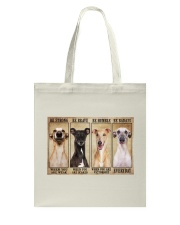 Greyhound be strong Tote Bag thumbnail