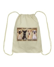 Greyhound be strong Drawstring Bag thumbnail