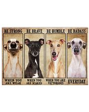 Greyhound be strong Horizontal Poster tile