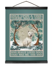 Westie you are my sunshine 16x20 Black Hanging Canvas thumbnail