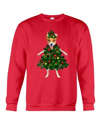 jack russell christmas tree