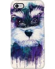 SCHNAUZER VISUAL ART POSTER Phone Case thumbnail
