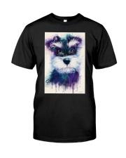 SCHNAUZER VISUAL ART POSTER Classic T-Shirt thumbnail