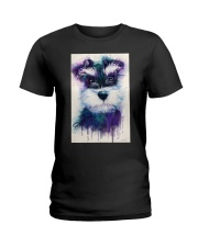 SCHNAUZER VISUAL ART POSTER Ladies T-Shirt thumbnail