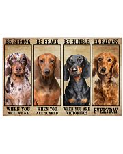 Dachshund be strong Horizontal Poster tile
