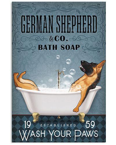German Shepherd Bathtub