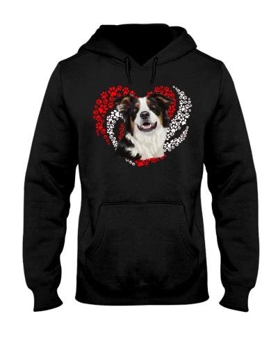 Border Collie Dog Heart