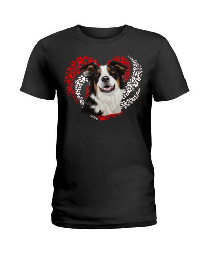 Border Collie Dog Heart