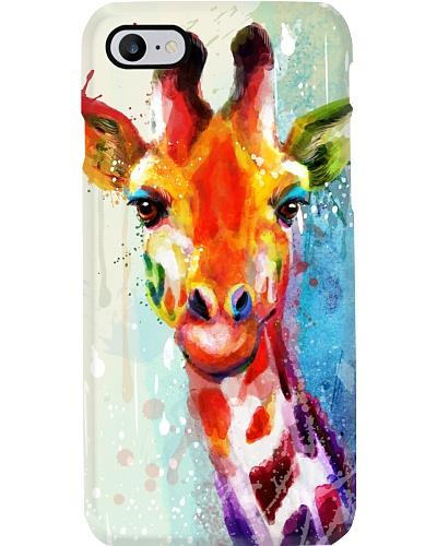 Giraffe Water Color Phone Case